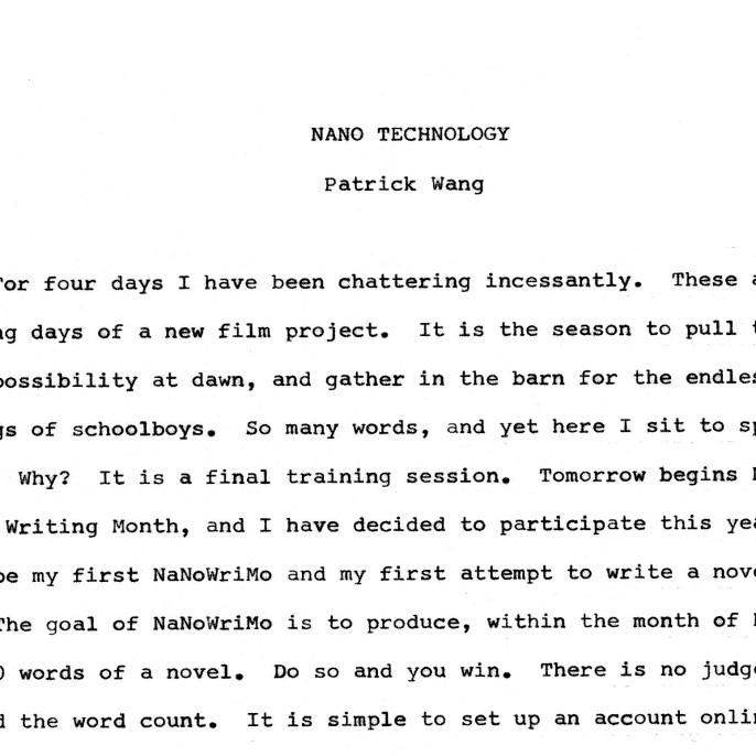 NANO TECHNOLOGY -1-