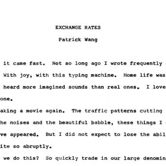 EXCHANGE RATES -1-