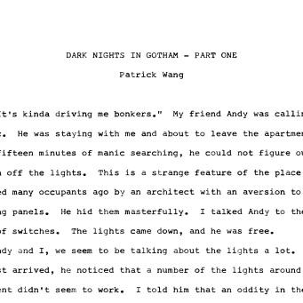 DARK NIGHTS -1-